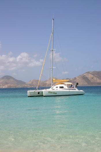 Tiko Tiko moored at Tintemarre