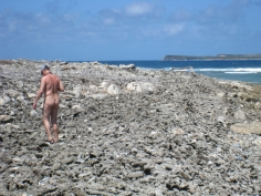 Exploring the rather desolate island of Green Cay