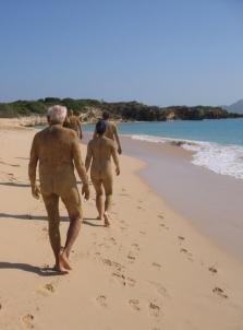 Running around naked... on Tintemarre