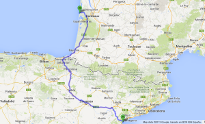 Making our way from Spain to La Jenny
