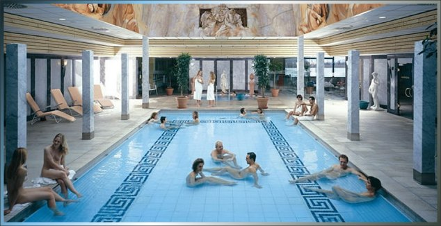 Nakedness at the German spa