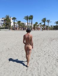 Nudist beach in front of Vera Playa Club