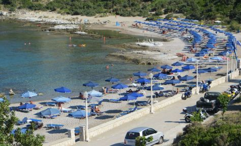 The only official naturist beach on Rhodes