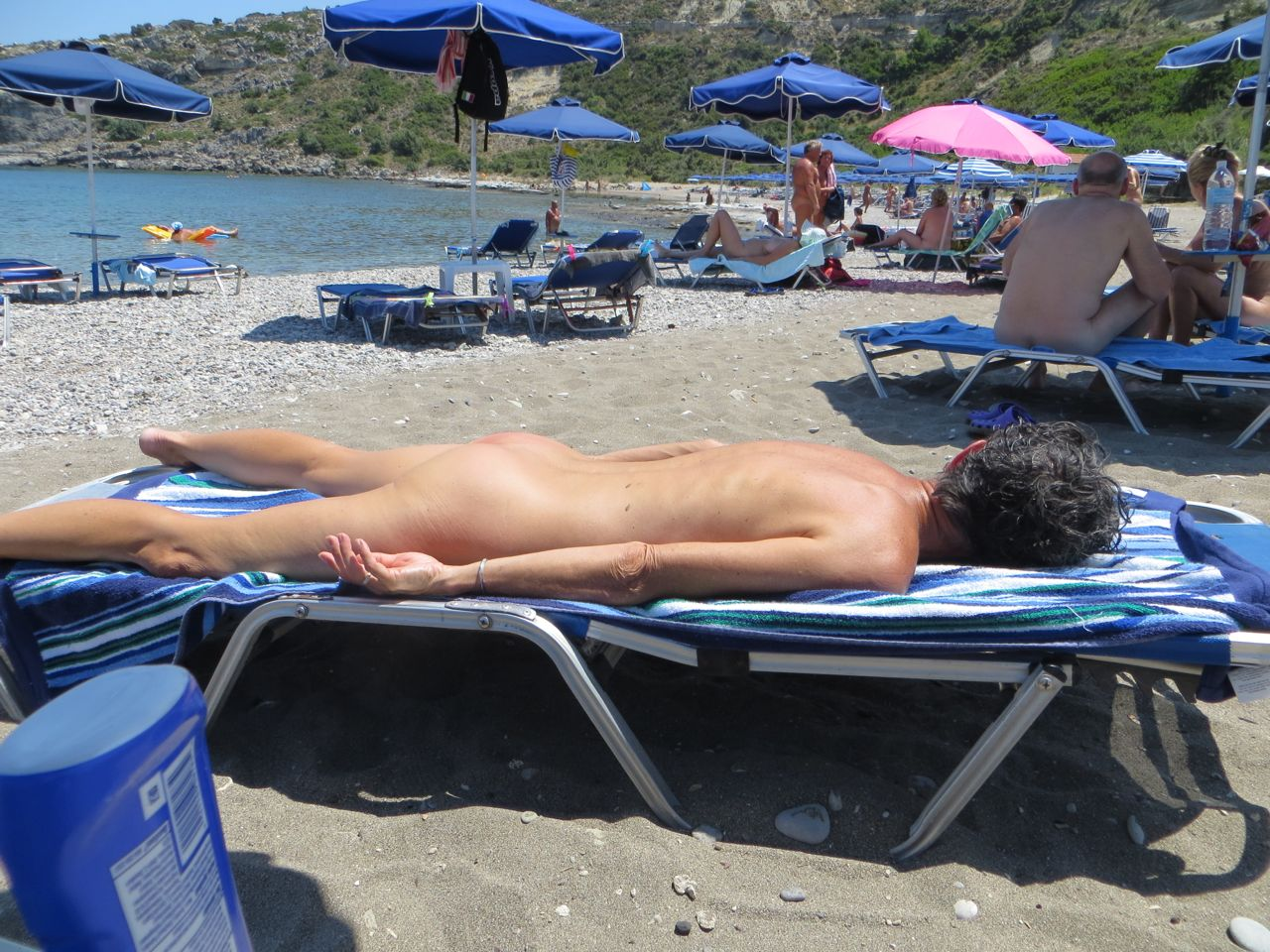 Greek nude beach photos