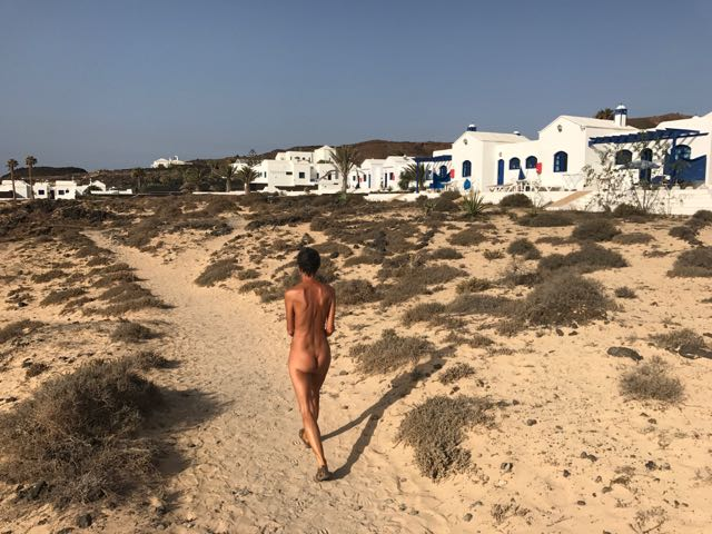 Nude Beach Combing on Lanzarote