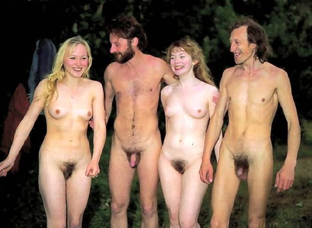Nudist women and men