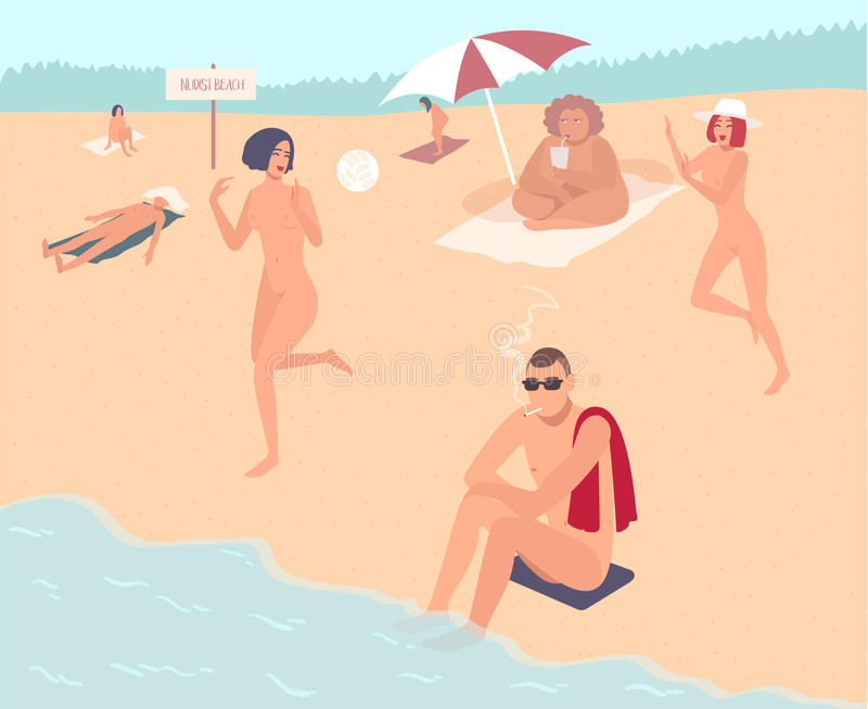 nudist-beach-nude-people-mans-womans-relax-beach-colorful-flat-illustration-90801266