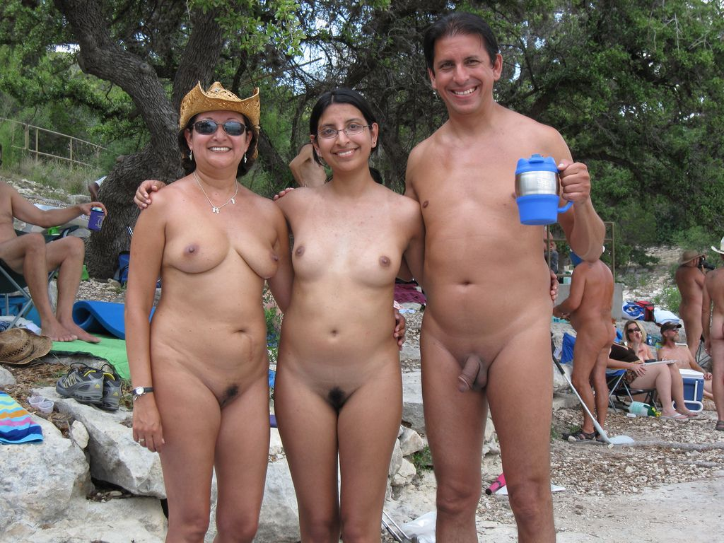 indian family nude beach photo
